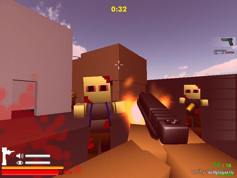 играть в майнкрафт игру зомби блоки бесплатно и онлайн игры minecraft #3
